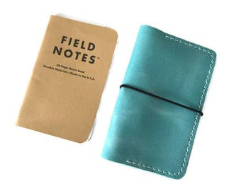 Leather Field Notes Case, Field Notes Cover, Travel Journal, Field Notes Wallet, Journal Case, Passport Cover, Italian Distressed Leather