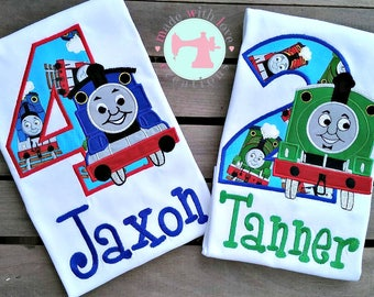 Train Birthday Shirt-Train Birthday-Train Birthday Shirt 1-9-Character Birthday Shirt-Boys Birthday Shirt-Train Shirt
