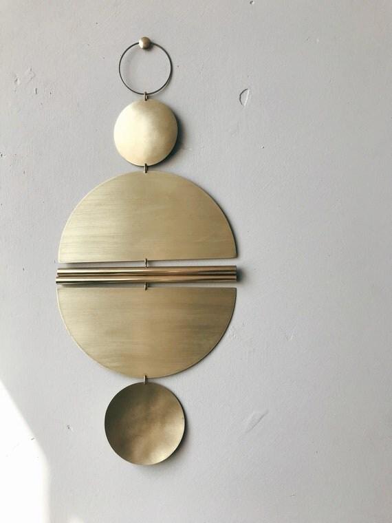 """Brass Wall Hanging - """"Puro"""" - made-to-order - 1 week turnaround time"""