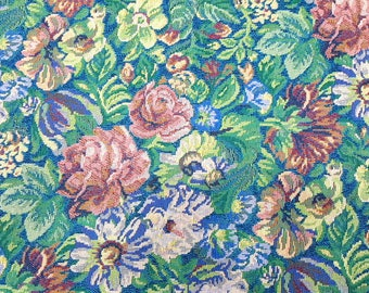 FLoral Upholstery Fabric Rose Design  Fabric Yarn Dyed Home Decorating Fabric Sold by Yard