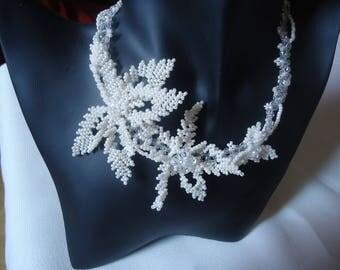 Wedding the Volubilis unique beads necklace