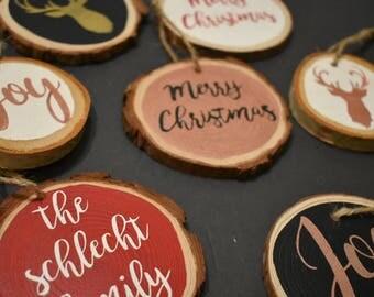Wood Slice Christmas Ornament
