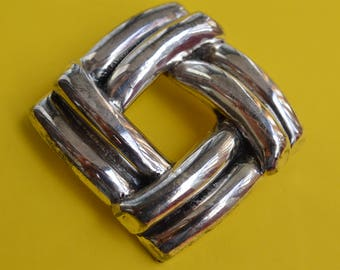 Vintage Brooch Pin Pendant Silver