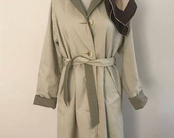 vintage burberry trench coat with silk scarf reversible burberry trench coat - Burberry Raincoat