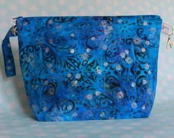 Medium zipped wedge project bag paisley sparkle