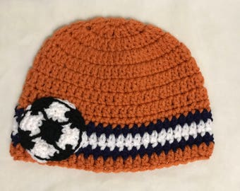 Baby Soccer Crochet Hat