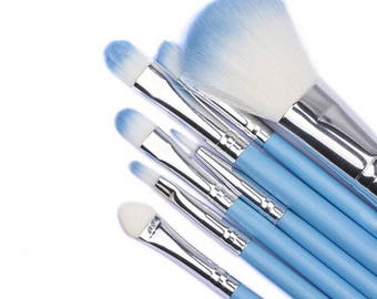 Makeup Brush Set 7pc set and Macaroon Trinket Case Lip Balm Fragrance Pena Colada Lip Tint Lip Gloss