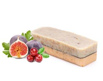 Cranberry Soap Log, Soap Loaf FREE SHIPPING, Natural Soap, Wholesale Soap, Bulk Soap Bulk, Soap Loaves, Cold Process Soap, Vegan Soap Sample