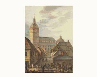 Cross Stitch Kit Cathedral of Turku by Carl Ludvig Engel, Church Cross Stitch, Embroidery Kit, Needlework DIY Kit (ENGEL01)