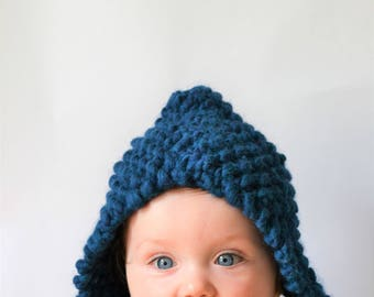 Chunky Baby Bonnet | Knitted Baby Bonnet | Baby Bonnet | Chunky Knit Baby Bonnet