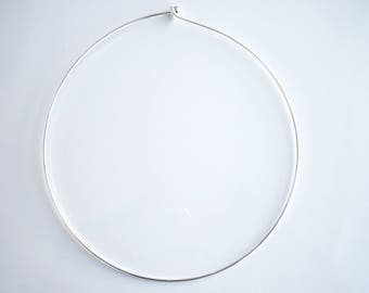 Neck diameter 13 cm silver plated brass