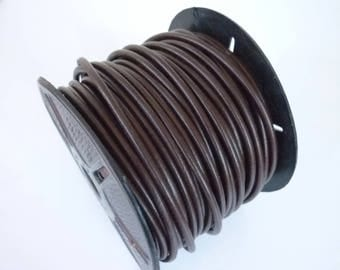 1 m Brown 4mm round leather