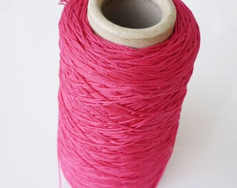 8 m of cotton yarn in color fuchsia for friendship bracelet