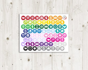 Assorted Colorful Icon Stickers - ECLP Stickers