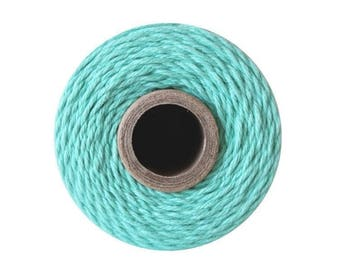 240 Yards of Solid Caribbean Blue Baker's Twine - String - Embellishment Packaging Craft Party Supplies
