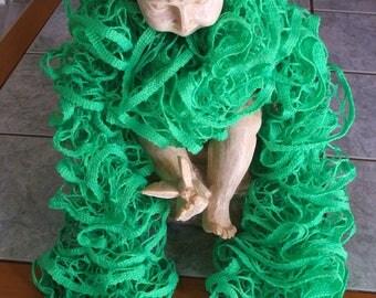 Handmade ruffle scarf - green - nets-
