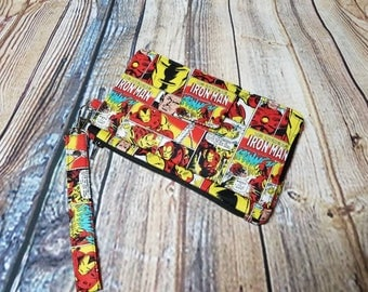 Ironman Comic Strip Inspired Pearl Wallet