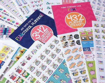 Planner Stickers | Pick TWO sets | Choose from 4 sticker collections | Fits any planner and calendar | Up to 1288 stickers | 100s of events