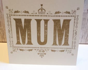 Mothers Day card - card for mum -