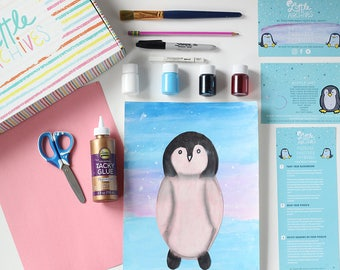 Kids Arts and Crafts Kit-Penguin Painting Craft