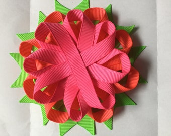 Tutty Fruity unfinished hair bow