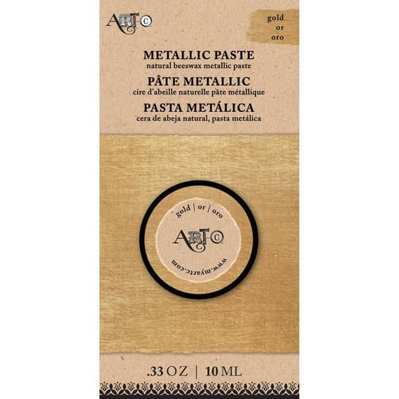 Wax Paste GOLD Metallic 20ml  Art-C ,beeswax based Metal gloss, professional quality and highly pigmented wax paste