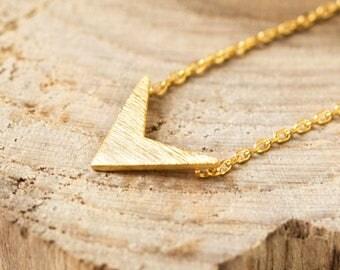 Arrow Necklace, Gold Necklace, Gold Pendant Necklace, Minimalist Necklace, Dainty Necklace, Arrow pendant, N343-G