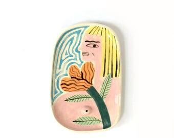 Blonde girl plate