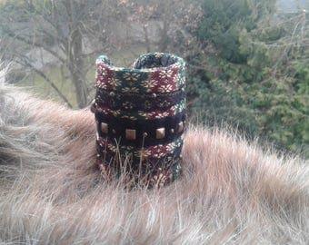 "Oriental motifs with lace studded ""miss sherazade"" Cuff Bracelet"