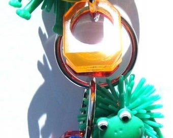 1715 Frog Ringer Bird Toy