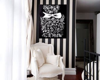 Fashion Love Painting on Canvas, Dior Illustration by Lana Moes, Dior Eau de Parfum Inspired Art, Black and White Interior, Art Collectors