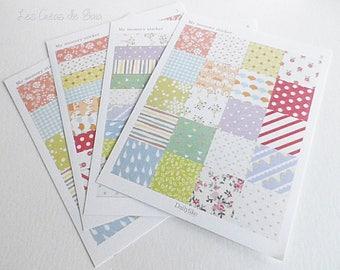 4 x boards deco planner stickers