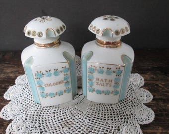 Sale Pair of Vintage Vanity Bottles