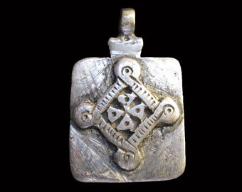 Interesting Ethiopian Coptic Cross Pendant : Ethiopia Jewelry Beads
