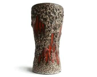 Vintage fat lava ceramic vase Scheurich 244 22 Lora decor, West German Pottery