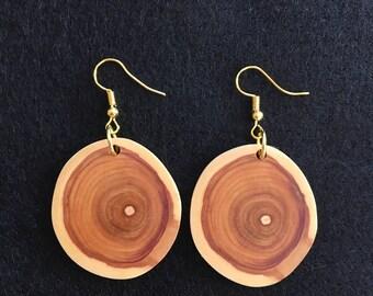 Natural Crosscut Lilac Earrings