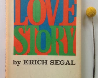 Love Story, Colorful Dust Jacket, Red Blue Green, 1970, Christmas, Valentines Day, Anniversary, Gift, MCM Display Piece, Iconic Tale