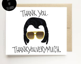 Funny Cards Thank You Cards - Thank you Thank you very much - Funny Thank You Cards - Set of Thank you cards - Thankyou Cards