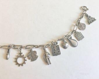 vintage H Teguy charm bracelet, Basque