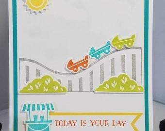 Birthday, Child - Roller Coaster, Turquoise