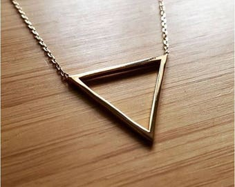 Triangle gold plated lobster clasp chain 45 cm