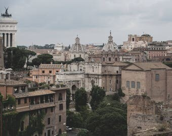 Rome Rooftops - Urban City photography - Italy, Ancient History, Roman, Architecture