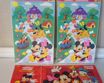 Disney Stickers and Postcards - Lot of 2 Sticker Packs and 1 Set of Postcards
