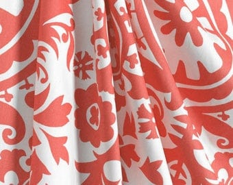 Summer Sale 20% off curtains, coral suzani curtians.