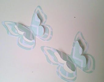 """The sticker paper with adhesive """"Pretty butterflies"""" Zebra blue"""