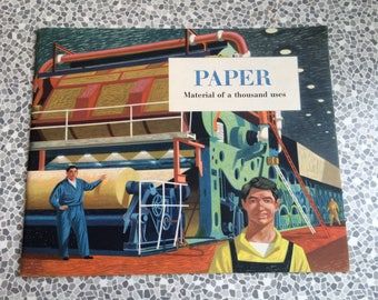 Book on the history of paper  paper Material of a thousand uses