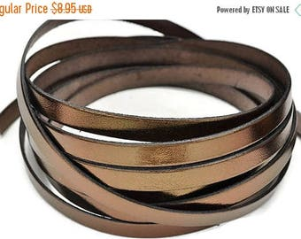 "30% OFF 10MM Metallic Bronze Leather Cord - 1M/39.4"" -  Best Quality European Leather Cord"