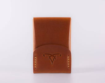 CardShell™ Cardcase Leather Wallet - Saddle Tan Hand-Dyed Herman Oak Leather