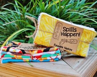 Spills Happen! Reusable Lunchbox Napkins