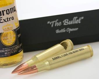 Engraved Valentine's Day  Bullet Bottle Opener